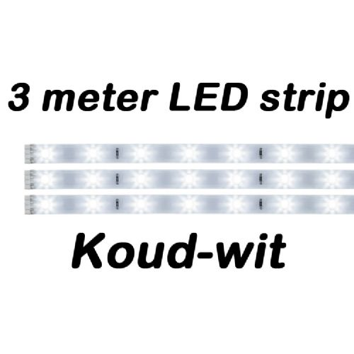 LED strip set 3m koud wit