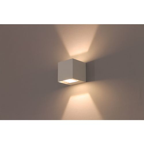 Buiten wandlamp LED wit up / down vierkant