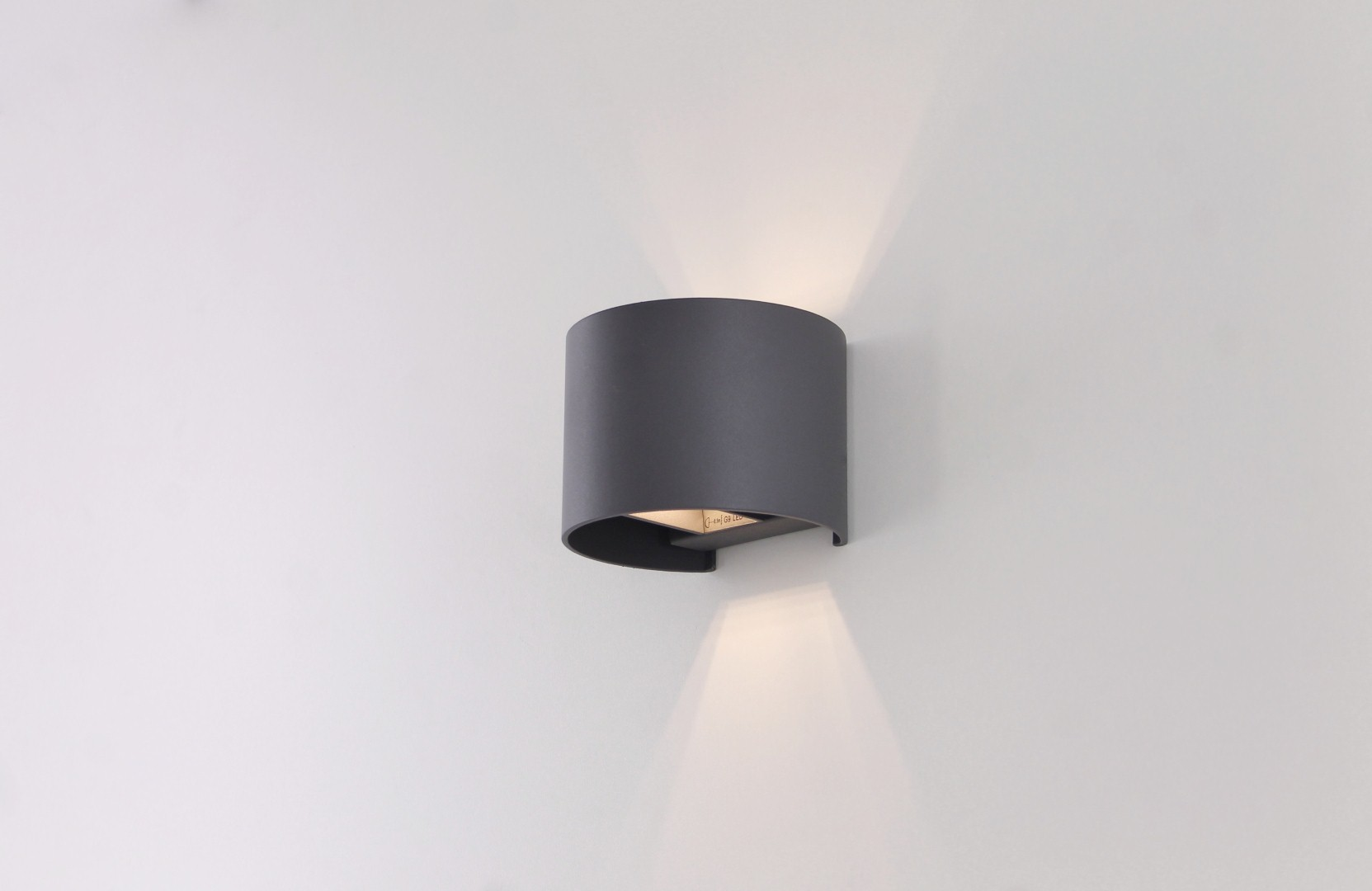 Wandlamp antraciet LED