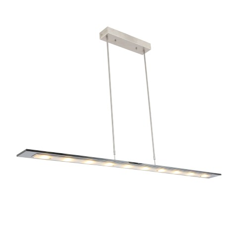 Hanglamp LED glasplaat en dimmer 140cm smoke